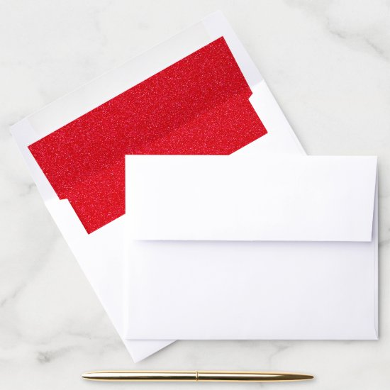 RED Glitter Envelope Liners