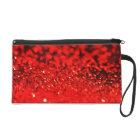 Red Glitter Evening Wristlet Bag