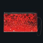 "Red Glitter Evening Wristlet Bag<br><div class=""desc"">Glamorous glitter in rich ruby red on an elegant wristlet evening bag, </div>"