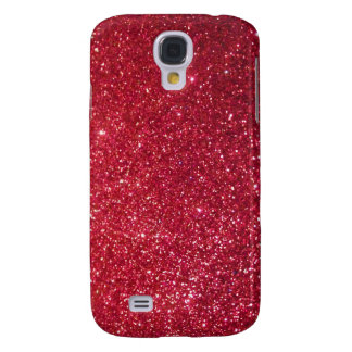 Red glitter galaxy s4 cover