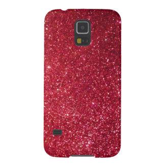 Red glitter galaxy s5 case