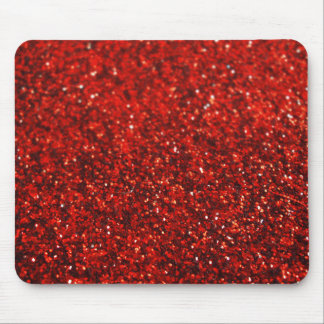 Red Glitter Graphic Horizontal Mousepad