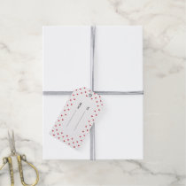 Red Glitter Hearts Pattern Gift Tags