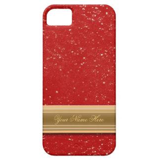 Red Glitter iPhone SE/5/5s Case