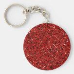 Red Glitter Keychain