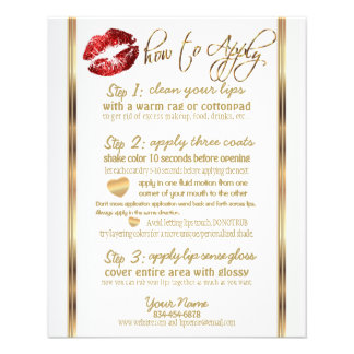 Red Glitter Lip Instructions 2 Flyer