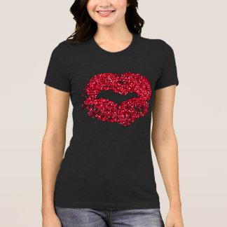 Red Glitter Lips Shirt