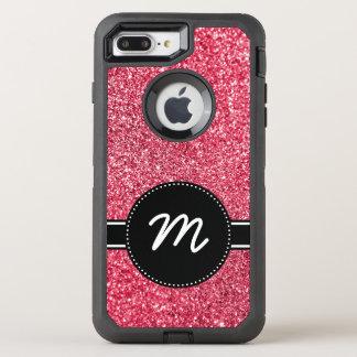 Red Glitter Monogram OtterBox Defender iPhone 7 Plus Case