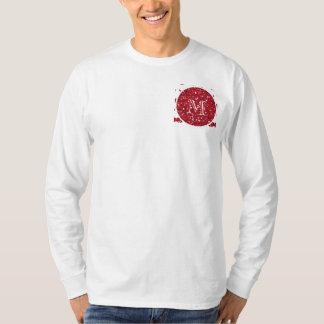 Red Glitter Mustache Pattern Your Monogram T-Shirt