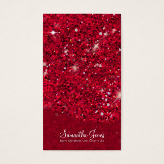 Red Glitter Pattern ID144 Business Card