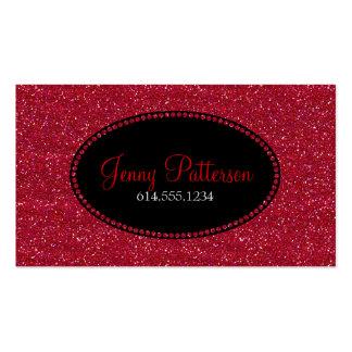 Red Glitter Pretty Elegant Business Cards