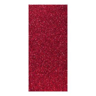 Red Glitter Rack Card