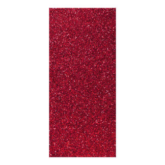 Red Glitter Personalized Rack Card