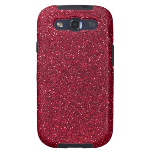 Red Glitter Samsung Galaxy SIII Cases