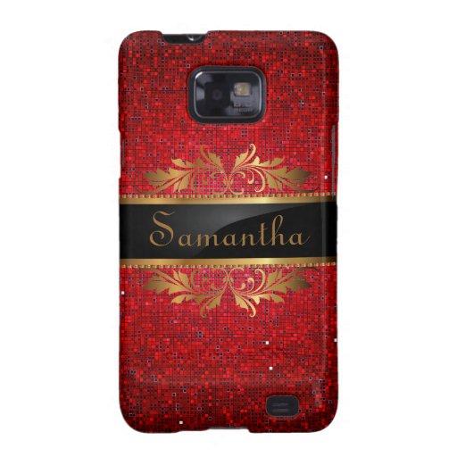 Red Glitter Sequin Disco Samsung Galaxy Case