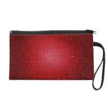 Red Glitter Sequin Disco Wristlet Purse Wallet