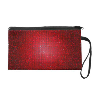 Red Glitter Sequin Disco Wristlet Purse Wallet