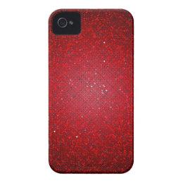 Red Glitter Sequin iPhone 4 Mate Tough™ Case