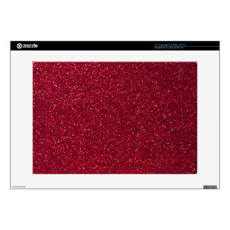 Red Glitter Laptop Decal