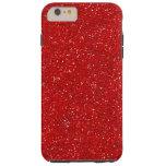 Red Glitter Sparkle Graphic Art Pattern Design Tough iPhone 6 Plus Case