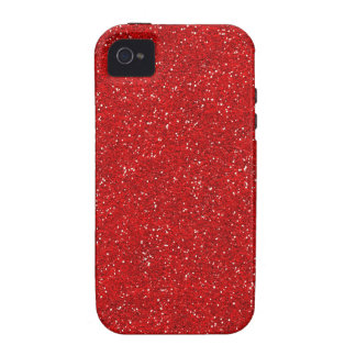 Red Glitter Sparkle Graphic Art Pattern Design iPhone 4/4S Covers