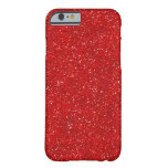 Red Glitter Sparkle Graphic Art Pattern Design Barely There iPhone 6 Case