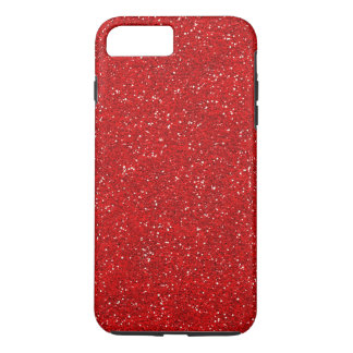 Red Glitter Sparkle Graphic Art Pattern Design iPhone 8 Plus/7 Plus Case