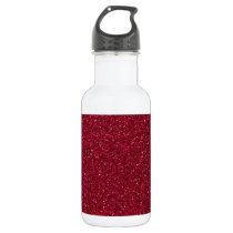 Red Glitter Stainless Steel Water Bottle