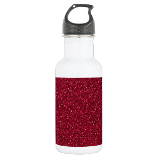 Red Glitter Stainless Steel Water Bottle