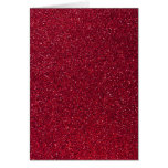 Red Glitter Stationery Note Card