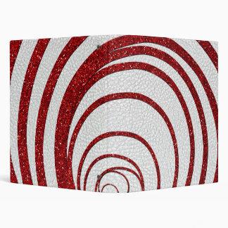 Red Glitter Swirly Binder