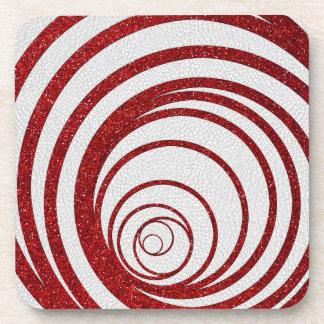 Red Glitter Swirly Coaster