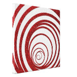 Red Glitter Swirly Gallery Wrapped Canvas