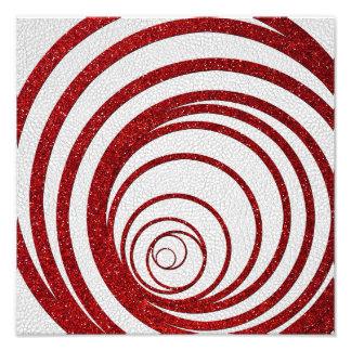 Red Glitter Swirly Photo Print
