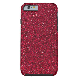 Red Glitter Tough iPhone 6 Case