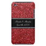 Red glitter wedding favors barely there iPod cover