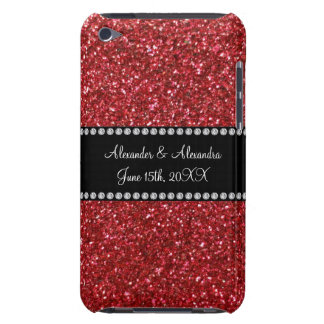 Red glitter wedding favors iPod touch cases