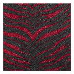 Red Glitter Zebra Print Photographic Print