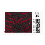 Red Glitter Zebra Print Stamps