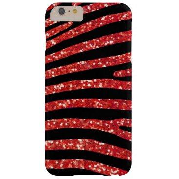 Beach Themed Red Glitter Zebra Stripe Case