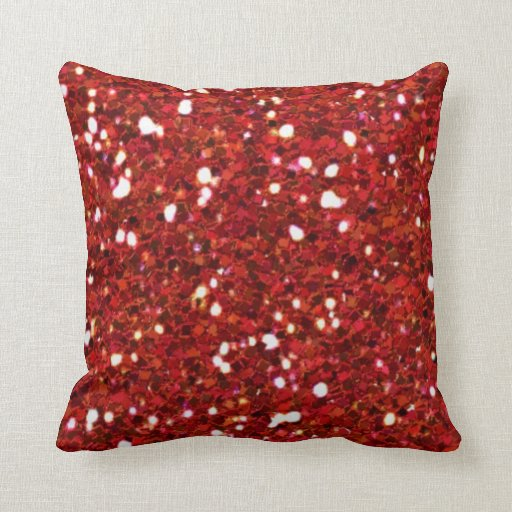 Red Glitters Pillow