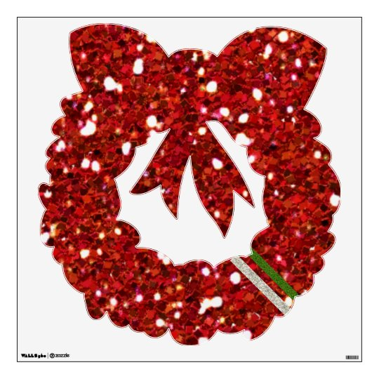 Red Glitters Wall Decal