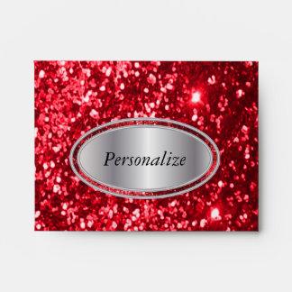 Red Glittery Envelope