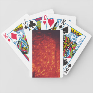 Red glittery lava texture bicycle poker cards