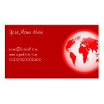Red Glossy Globe, Your Name Here, Business Card