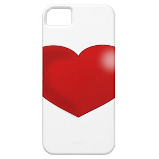 Red Glossy Valentine Heart iPhone SE/5/5s Case