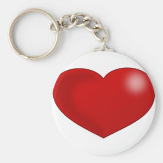 Red Glossy Valentine Heart Key Chain