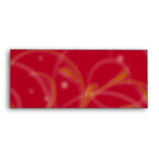 Red Glow Floral Abstract Envelope