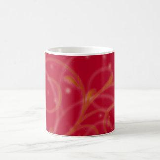Red Glow Floral Mug