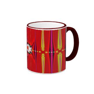 red glow fractal ringer coffee mug